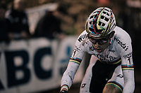 CX world champion Wout Van Aert (BEL/Crelan-Charles)<br /> <br /> Elite Men's Race<br /> Superprestige Diegem / Belgium 2017
