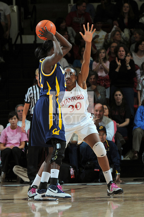 STANFORD, CA - FEBRUARY 14:  Forward Nnemkadi Ogwumike #30 of the Stanford Cardinal during Stanford's 58-41 win against the California Golden Bears on February 14, 2009 at Maples Pavilion in Stanford, California.