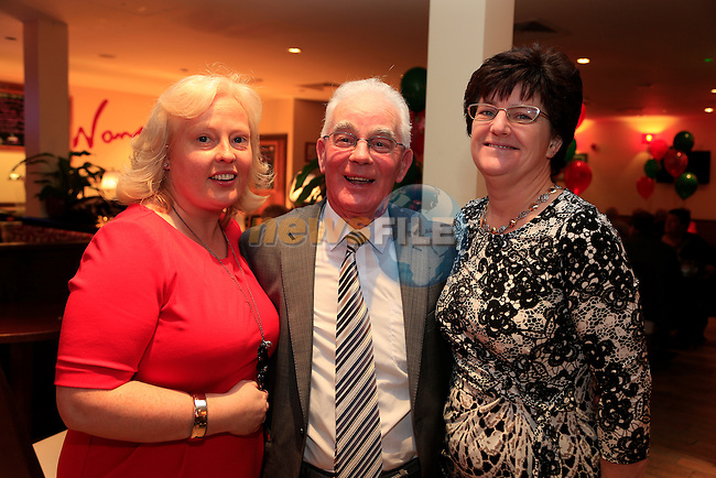 Diane McGarr,Paddy Smith and  Fiona Hallinan at the At Your Leisure Active Retirement Group christmas party.<br /> Picture: Fran Caffrey www.newsfile.ie