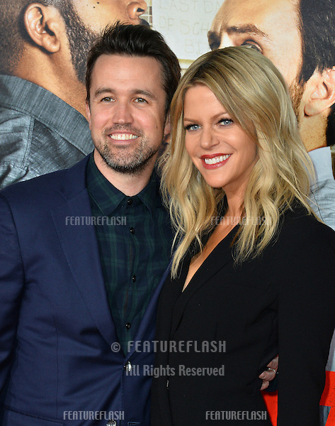 Rob McElhenney &amp; Kaitlin Olson at the world premiere for &quot;Fist Fight&quot; at the Regency Village Theatre, Westwood, Los Angeles, USA 13 February  2017<br /> Picture: Paul Smith/Featureflash/SilverHub 0208 004 5359 sales@silverhubmedia.com