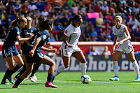 HARRISON, NJ - SEPTEMBER 29: Sydney Leroux #2 of the Orlando Pride looks to pass during a game between Orlando Pride and Sky Blue FC at Red Bull Arena on September 29, 2019 in Harrison, New Jersey.