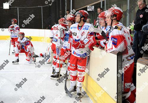 2011-02-05 / ijshockey / seizoen 2010-2011 / Finale Beker van België 2011 / Teleurstelling bij  Herentals..Foto: mpics