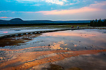Midway Geyser Basin is a popular tourist spot.