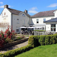 COPY BY TOM BEDFORD<br /> Pictured: Foyles Restaurant in Glasbury, Wales, UK.<br /> Re: A top restaurant which claimed its salmon were fresh from the River Wye has admitted buying it from fish farms.<br /> Magistrates heard the menu at Foyle's restaurant boasted Wye Salmon and Wye trout on the menu.<br /> Trading Standards officers were called in because it is illegal to sell salmon caught from the River Wye.   <br />  The restaurant in the village of Glasbury-on-Wye, Powys, was ordered to pay £7,430 in costs and fines.<br /> The court heard Foyle's customers thought they were tucking into locally-caught wild salmon and trout.<br /> But after a tip-off Powys Trading Standards launched an 18-month investigation into the restaurant which gets rave reviews on TripAdvisor.