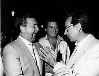 Montreal (QC) CANADA file photo - august 23 1985 - Jacques Lanteigne, Claude Dauphin, Robert Bourassa