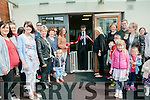 ReNaming : Michael Healy Rae, TD cutting the ribbon at the renaming of the Listowel Childcare centre on Sunday last.