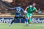 11.01.2019, Bidvest Stadion, Braampark, Johannesburg, RSA, FSP, SV Werder Bremen (GER) vs Bidvest Wits FC (ZA)<br /> <br /> im Bild / picture shows <br /> Sibusiso Kumalo (Bidvest Wits FC #22), Max Kruse (Werder Bremen #10), <br /> <br /> Foto © nordphoto / Ewert