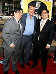 "HOLLYWOOD, CA. - April 06: Matt Yuen, Ray Liotta and John Yuen arrive at the Los Angeles premiere of ""Observe and Report"" at Grauman's Chinese Theater on April 6, 2009 in Hollywood, California."