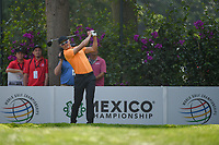 HaoTong Li (CHN) watches his tee shot on 14 during round 1 of the World Golf Championships, Mexico, Club De Golf Chapultepec, Mexico City, Mexico. 3/1/2018.<br /> Picture: Golffile | Ken Murray<br /> <br /> <br /> All photo usage must carry mandatory copyright credit (&copy; Golffile | Ken Murray)