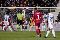 29th February 2020; Estadio Municipal de Butarque, Madrid, Spain; La Liga Football, Club Deportivo Leganes versus Deportivo Alaves; Guido Carrilo (CD Leganes) clinbs for the header and  scores to make it 1-1 in the 59th minute