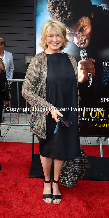 "Martha Stewart attends the World Premiere of ""Get On Up"" at the Apollo Theater in Harlem in New York Citiy on July 21, 2014."