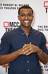 """Joshua Boone attends the rehearsal photo call for the MCC Theater's production of """"All The Natalie Portmans"""" on January 15, 2019 in New York City."""
