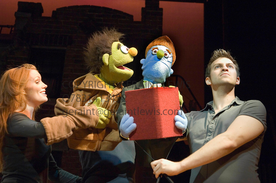 Avenue Q . Music and Lyrics by Robert Lopez and Jeff Marx,Book by Jeff Whitty,Directed by Jason Moore.With  Clare Foster,Jon Robyns .Opens at the Noel Coward Theatre on 28/6/06. CREDIT Geraint Lewis