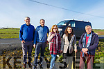 Residents Jimmy Galvin, James Flaherty, Pauline and Roger Cattermole of the Dale Road between Rathscannell and Ballincloher Cross on the Abbeydorney to Ballyduff road with Cllr Aoife Thornton are delighted with the news of the funding made available roe the road improvement works to carried out.