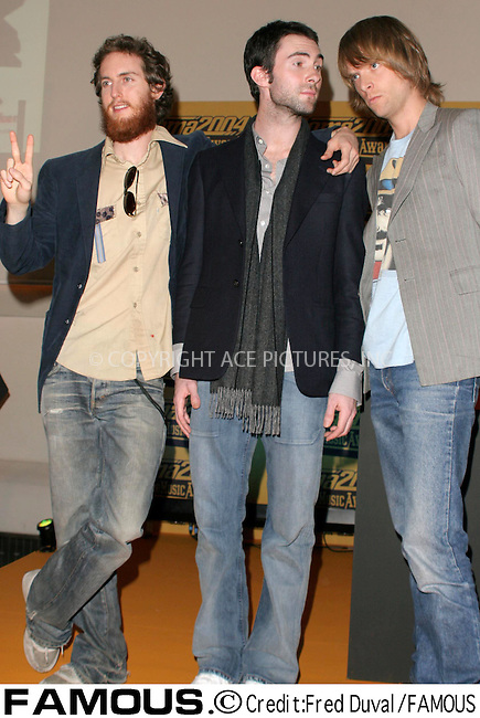 Maroon 5 at Sketch in London where they launched the Roma MTV Music Awards 2004 - 06 October 2004