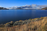Dillon Reservoir at Silverthorne Colorado in the colorado rockies during autumn, USA