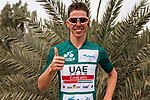 Race leader Rui Costa (POR) UAE Team Emirates at sign on before the start of Stage 2 of the Saudi Tour 2020 running 187km from Sadus Castle to Al Bujairi, Saudi Arabia. 5th February 2020. <br /> Picture: ASO/Pauline Ballet | Cyclefile<br /> All photos usage must carry mandatory copyright credit (© Cyclefile | ASO/Pauline Ballet)