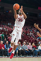 NWA Democrat-Gazette/BEN GOFF @NWABENGOFF <br /> Reggie Chaney of Arkansas goes to the basket in the second half vs Tusculum Friday, Oct. 26, 2018, during an exhibition game in Bud Walton Arena in Fayetteville.