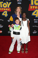 "11 June 2019 - Hollywood, California - Jillian Michaels, Phoenix Michaels Rhoades, Lukensia Michaels Rhoades. Premiere Of Disney And Pixar's ""Toy Story 4""  held at El Capitan theatre. Photo Credit: Faye Sadou/AdMedia"