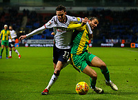 Bolton Wanderers' Craig Noone battles with West Bromwich Albion's Jay Rodriguez<br /> <br /> Photographer Alex Dodd/CameraSport<br /> <br /> The EFL Sky Bet Championship - Bolton Wanderers v West Bromwich Albion - Monday 21st January 2019 - University of Bolton Stadium - Bolton<br /> <br /> World Copyright © 2019 CameraSport. All rights reserved. 43 Linden Ave. Countesthorpe. Leicester. England. LE8 5PG - Tel: +44 (0) 116 277 4147 - admin@camerasport.com - www.camerasport.com