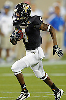 1 October 2011:  FIU wide receiver T.Y. Hilton (4) takes a pass 63 yards for a touchdown in the first quarter as the Duke University Blue Devils defeated the FIU Golden Panthers, 31-27, at FIU Stadium in Miami, Florida.