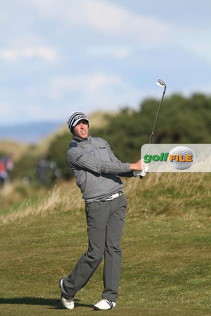 Lorenzo Gagli (ITA) in St Andrews on the 2nd Day at the Alfred Dunhill Links Championship, Old Course St. Andrews, Carnoustie and Kingsbarns, Scotland...(Photo Jenny Matthews/www.golffile.ie)