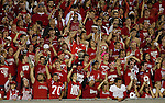 Wisconsin Badger fans cheer an NCAA college football game against the Ohio State Buckeyes on October 16, 2010 at Camp Randall Stadium in Madison, Wisconsin. The Badgers beat the Buckeyes 31-18. (Photo by David Stluka)