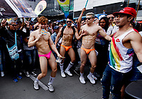 BOGOTA, COLOMBIA - JUNE 30: People march during the gay pride parade on June 30, 2019. in Bogota, Colombia (Photo by VIEWPRESS/Leonardo Muñoz)