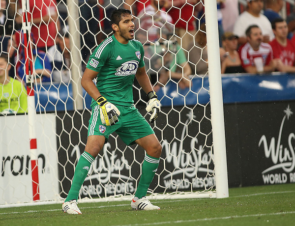 FRISCO, TX: Raul Fernandez #1 of FC Dallas in action against the San Jose Earthquakes at FC Dallas Stadium in Frisco, Texas on May 25,2013 (Photo Rick Yeatts)