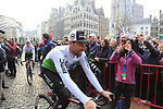 Bernhard Eisel (AUT) Team Dimension Data at the team presentation in Antwerp before the start of the 2019 Ronde Van Vlaanderen 270km from Antwerp to Oudenaarde, Belgium. 7th April 2019.<br /> Picture: Eoin Clarke | Cyclefile<br /> <br /> All photos usage must carry mandatory copyright credit (&copy; Cyclefile | Eoin Clarke)