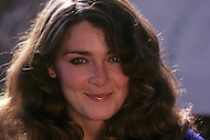 Vassouras, district of Rio de Janeiro, Brazil. 1981.  A family in Africa is besieged by a group of lions, driven mad by the drought. They have to survive multiple attacks but some of their colleagues are eaten by the lions. From the film Savage Harvest, directed by Robert E. Collins.Photo of the canadian actress Anne-Marie Martin.