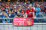 Solna 2013-08-06 Football Friendly Game , AIK - Manchester United FC :  <br /> Manchester United supporter fans publik supporters p&aring; Friends Arena under matchen<br /> (Foto: Kenta J&ouml;nsson) Nyckelord:
