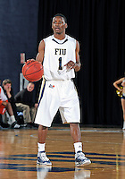 Florida International University guard Deric Hill (1) plays against Bowling Green State University, which won the game 61-53 on December 22, 2011 at Miami, Florida. .