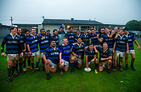 The Athletic team pose for a group photo after the Horowhenua-Kapiti premier club rugby union match between Levin Athletic and Waikanae at Playford Park, New Zealand on Saturday, 7 July 2018. Photo: Dave Lintott / lintottphoto.co.nz