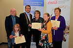 Moya Fay, John Fay Ashfield, Mayor Richie Culhane Margaret McKenna and Mary Eaton<br /> Beauth on the Boyne Awards<br /> Picture Fran Caffrey www.newsfile.ie