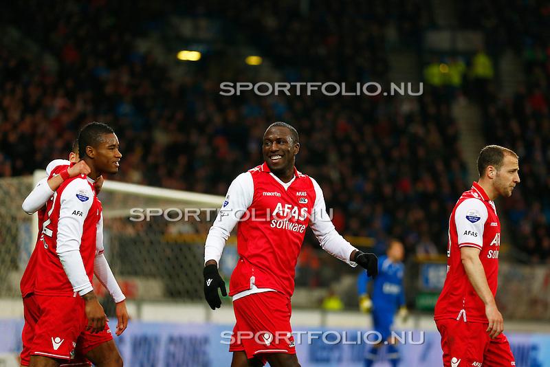 Nederland, Heerenveen, 26 april 2013.Eredivisie.Seizoen 2012-2013.SC Heerenveen-AZ.Jozy Altidore van AZ is blij na zijn doelpunt