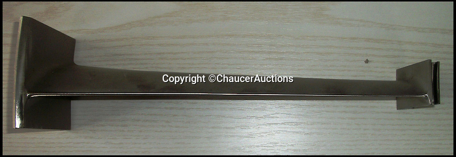 BNPS.co.uk (01202 558833)<br /> Pic: ChaucerAuctions/BNPS<br /> <br /> ***Please Use Full Byline***<br /> <br /> FYI: The Concorde Stator Blade. <br /> <br /> Legendary airline pilot Mike Bannister is selling 100,000 pounds worth of his Concorde memorabilia so he can fund his daughter through flying school.<br /> <br /> Amy Bannister, 20, is hoping to following in her father's jet-stream to become a commercial airline pilot and is currently at a flight training school in Spain.<br /> <br /> The prestigious course is costing her a six figure sum.<br /> <br /> Her father Mike, 65, didn't want her burdened with debt at the start of her career and so stripped his study of Concorde relics, including cockpit instruments, and has put them up for sale at auction.