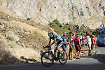Davide Formolo (ITA) Bora-Hansgrohe on the slopes of Sierra de la Alfaguara near the finish of Stage 4 of the La Vuelta 2018, running 162km from Velez-Malaga to Alfacar, Sierra de la Alfaguara, Andalucia, Spain. 28th August 2018.<br /> Picture: Eoin Clarke   Cyclefile<br /> <br /> <br /> All photos usage must carry mandatory copyright credit (&copy; Cyclefile   Eoin Clarke)