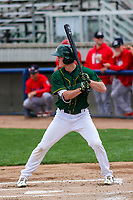 Beloit Snappers outfielder Cole Gruber (6) at bat during a Midwest League game against the Peoria Chiefs on April 15, 2017 at Pohlman Field in Beloit, Wisconsin.  Beloit defeated Peoria 12-0. (Brad Krause/Four Seam Images)