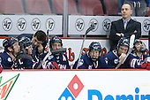 Joe Pereira (UConn - Assistant Coach), Mike Cavanaugh (UConn - Head Coach) - The Boston University Terriers defeated the visiting University of Connecticut Huskies 4-2 (EN) on Saturday, October 24, 2015, at Agganis Arena in Boston, Massachusetts.