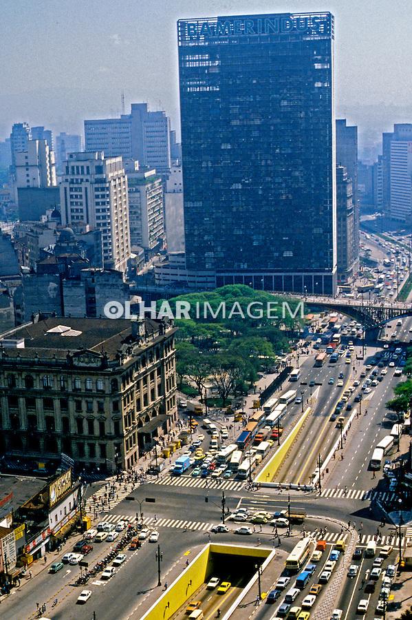 Vale do Anhangabau. Sao Paulo. 1980. Foto de Juca Martins.