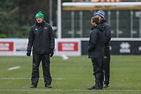 Richmond coaching staff ahead of the Championship Cup match between Ealing Trailfinders and Richmond at Castle Bar , West Ealing , England  on 15 December 2018. Photo by David Horn.