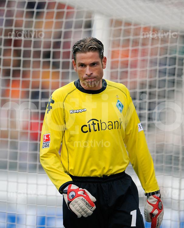 FUSSBALL   1. BUNDESLIGA   SAISON 2008/2009   7. SPIELTAG VfB Stuttgart - Werder Bremen          04.10.2008 Tim WIESE (Bremen) enttaeuscht.