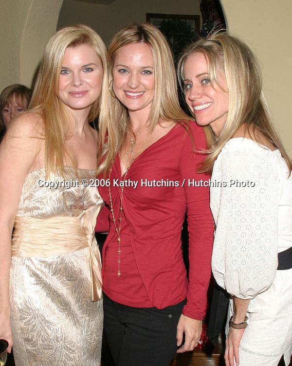 Heather Tom, Sharon Case, and Tamara Clatterbuck.Annual Christmas Party.Heather Tom's House.Glendale, CA.December 16,  2006.©2006 Kathy Hutchins / Hutchins Photo....