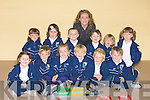 GREATDAY: A great day for the new pupils of Glenderry National School, Ballyheigue on Tuesday. Front l-r: kate kenny, Diarmuid Behan, Aoibhe O'Halloran, Evan Casey, Eoin Stack and Fe?lim O'Sullivan. Back l-r: Melanie Higgins, Eilis Gaynor, Shane Lawlessw, caroline Corridon (teacher), Katie Ellen Reidy, Sarah Power and Emma Woods.... ....