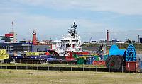 Nederland  IJmuiden aan Zee - 2019.  Havengebied. In dit gebied wordt de komende tijd een nieuwe kustplaats gebouwd: IJmuiden aan Zee.   Foto Berlinda van Dam / Hollandse Hoogte