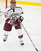 Brayden Jaw (Harvard - 10) - The Harvard University Crimson defeated the visiting Colgate University Raiders 7-4 (EN) on Saturday, February 20, 2016, at Bright-Landry Hockey Center in Boston, Massachusetts,