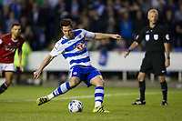 Reading's Yann Kermorgant scores the opening goal from the penalty spot           <br /> <br /> <br /> Photographer Craig Mercer/CameraSport<br /> <br /> The EFL Sky Bet Championship Play-Off Semi Final Second Leg - Reading v Fulham - Tuesday May 16th 2017 - Madejski Stadium - Reading <br /> <br /> World Copyright &copy; 2017 CameraSport. All rights reserved. 43 Linden Ave. Countesthorpe. Leicester. England. LE8 5PG - Tel: +44 (0) 116 277 4147 - admin@camerasport.com - www.camerasport.com