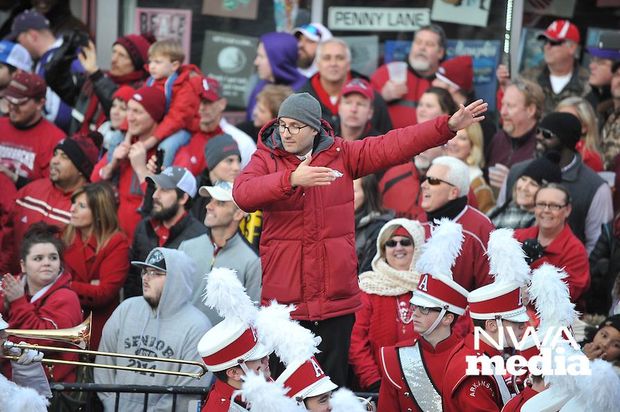 NWA Democrat-Gazette/MICHAEL WOODS &bull; @NWAMICHAELW<br /> The parade before the University of Arkansas Razorbacks take on the Kansas State wildcats in the 57th annual AutoZone Liberty Bowl January 2, 2016.