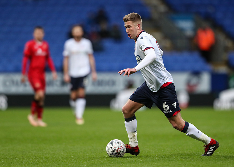 Bolton Wanderers' Josh Vela<br /> <br /> Photographer Andrew Kearns/CameraSport<br /> <br /> Emirates FA Cup Third Round - Bolton Wanderers v Walsall - Saturday 5th January 2019 - University of Bolton Stadium - Bolton<br />  <br /> World Copyright © 2019 CameraSport. All rights reserved. 43 Linden Ave. Countesthorpe. Leicester. England. LE8 5PG - Tel: +44 (0) 116 277 4147 - admin@camerasport.com - www.camerasport.com